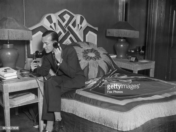 English writer actor and director Noël Coward at home September 1927