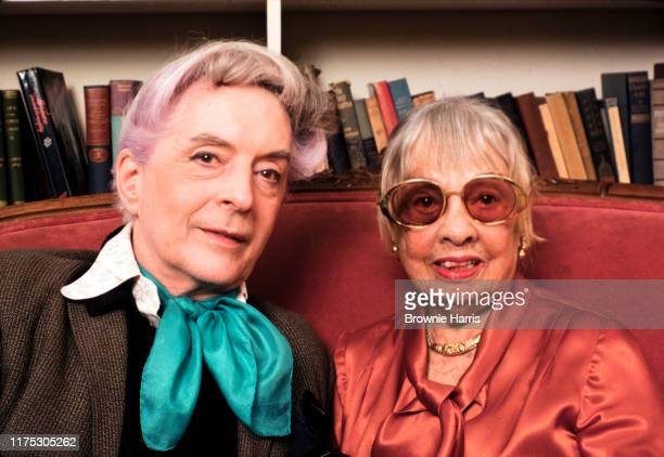English writer and actor Quentin Crisp and American screenwriter and author Anita Loos, New York, New York, January 10, 1980.