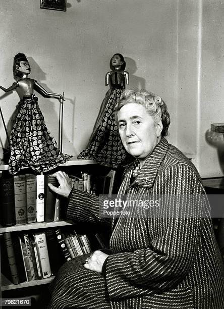 1949 English crime writer Agatha Christie portraitAgatha Christie the world's best known mystery writer famous for her Hercule Poirot and Miss Marple...