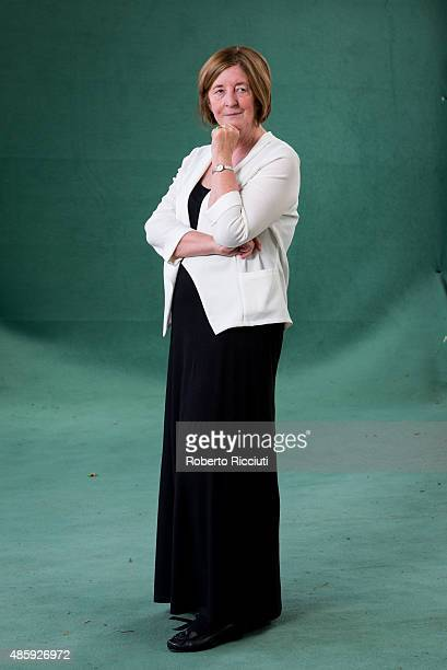 English writer and novelist Pat Barker attends a photocall at Edinburgh International Book Festival on August 30 2015 in Edinburgh Scotland