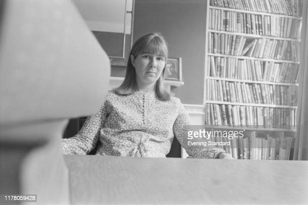 English writer and novelist Susan Hill seated in a library on 26th August 1970 Susan Hill's new novel 'I'm the King of the Castle' is about to be...