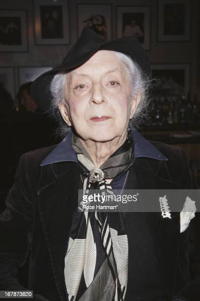 English writer and raconteur Quentin Crisp at a literary breakfast, New York City, 1994.