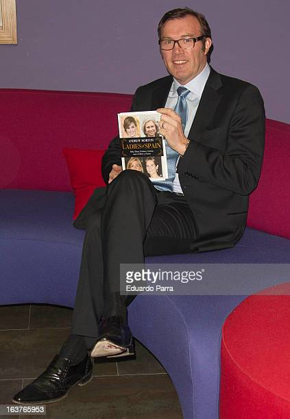 English writer Andrew Morton launches a new book 'Ladies of Spain' at a press conference at Petit Palace hotel on March 15 2013 in Madrid Spain