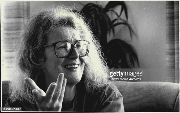 English Writer Angela Carter. September 23, 1987. .