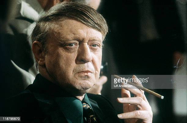English writer Anthony Burgess on TV show Apostrophes taken on February 24 1989 in Paris France