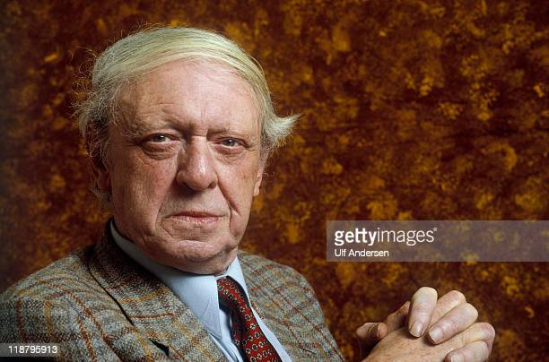 English writer Anthony Burgess poses during a portrait session held on February 28 1989 in Paris France