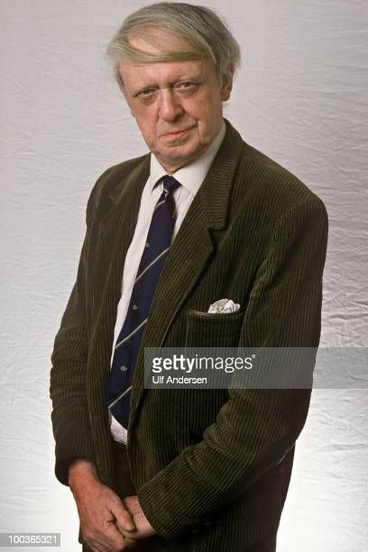 English writer Anthony Burgess poses to promote his book at a portrait sitting on January 24 1983
