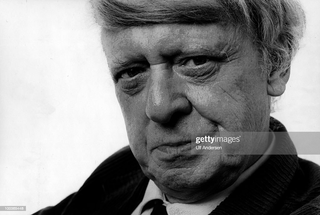 English writer Anthony Burgess (1927-1993), poses to promote his book at a portrait sitting. on January 24, 1983.