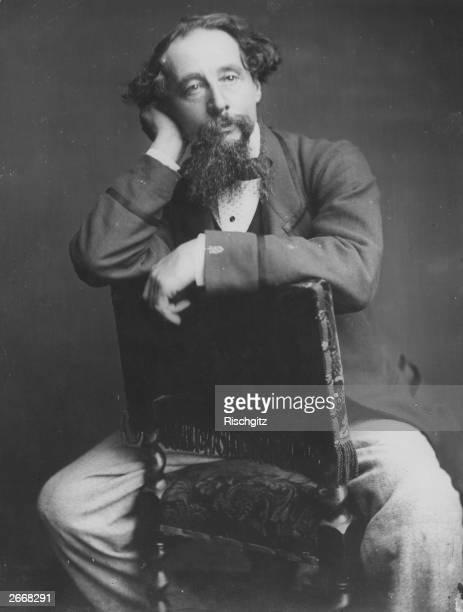 English writer Charles Dickens from the original wetplate negative by Herbert Watkins