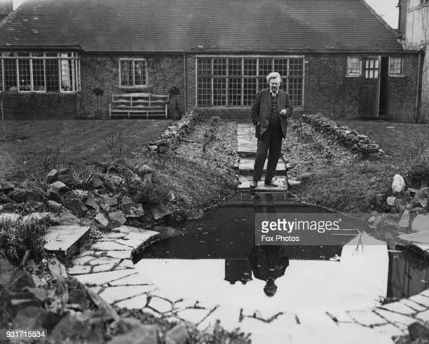 English writer G K Chesterton at his home in Beaconsfield UK February 1926
