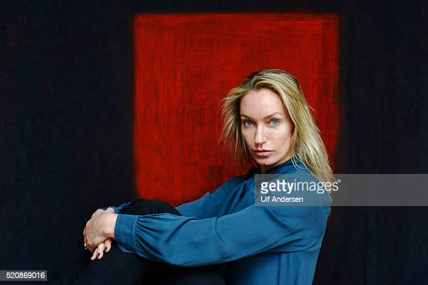English writer Lisa S Hilton poses during portrait session held on April 2 2016 in Lyon France