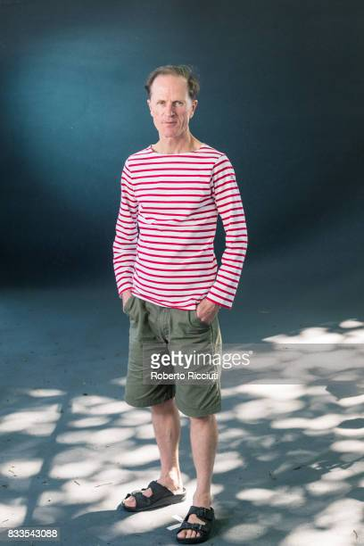 English writer Philip Hoare attends a photocall during the annual Edinburgh International Book Festival at Charlotte Square Gardens on August 17 2017...
