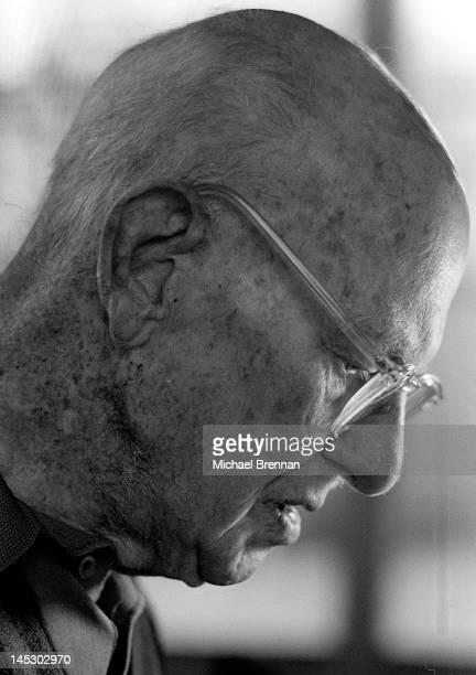 English writer Sir Pelham Grenville Wodehouse KBE aka P G Wodehouse in Remsenburg New York State 14th December 1974 The great humorist had just been...