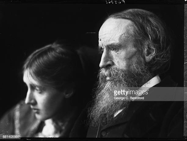 English writer Virginia Woolf with her father author and critic Sir Leslie Stephen 1902
