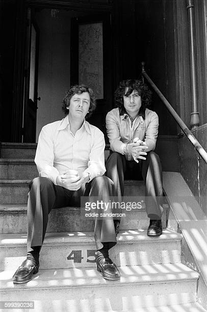 English writers Dick Clement and Ian La Frenais in Hollywood, photographed around some of the famous streets in the backlot of 20th Century Fox. ....