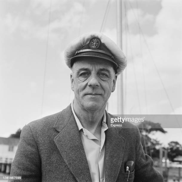 English yachtsman Alec Rose who is planning to circumnavigate the globe singlehandedly on his sloop 'Lively Lady' 5th July 1966 He is wearing a Royal...