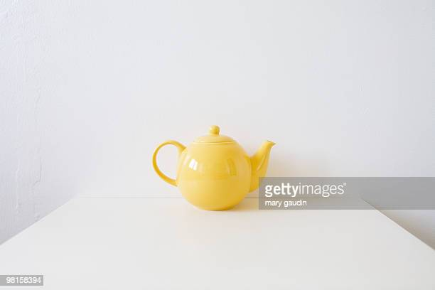 English yellow teapot