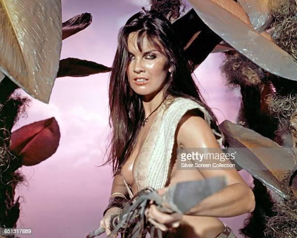 Englisha actress Caroline Munro as Dia in the scifi fantasy film 'At the Earth's Core' 1976