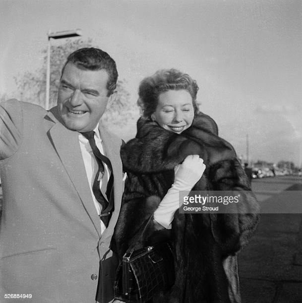 EnglishAmerican actor Jack Hawkins with his wife Doreen 2nd November 1960