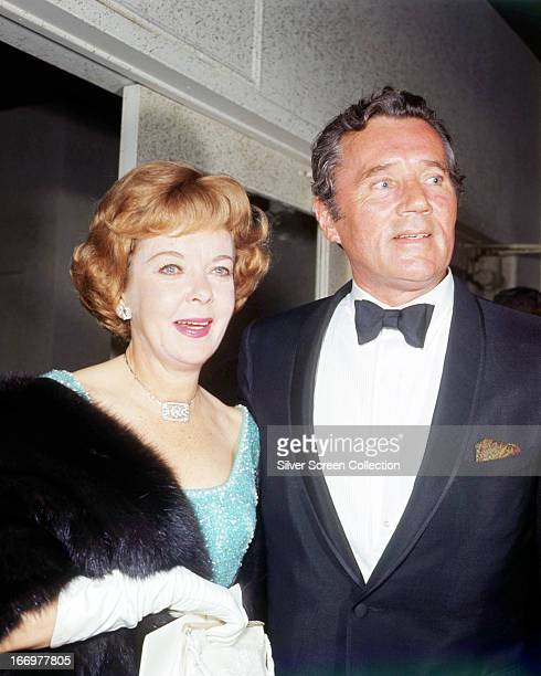 EnglishAmerican actress and director Ida Lupino with her husband actor Howard Duff circa 1975