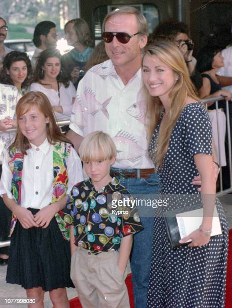 EnglishAmerican actress Jane Seymour with her husband American actor producer and director James Keach and her two children Katherine Flynn and Sean...