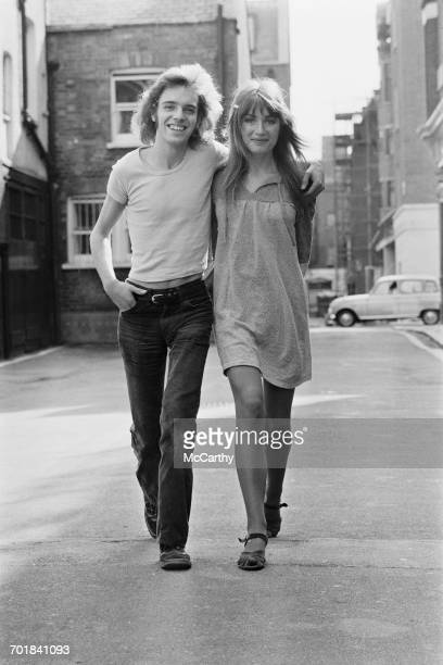EnglishAmerican rock musician and singer Peter Frampton and his girlfriend Mary Lovett UK 29th September 1971