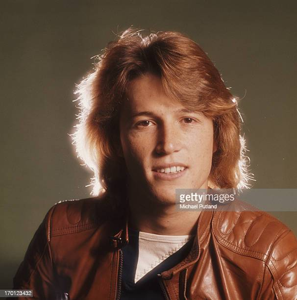 English/Australian singer Andy Gibb 1979 He is the younger brother of Bee Gees Barry Robin and Maurice Gibb
