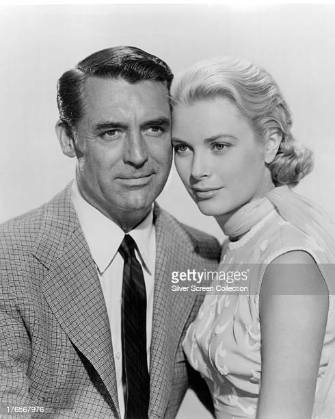 Englishborn actor Cary Grant and American actress Grace Kelly in a publicity still for 'To Catch A Thief' directed by Alfred Hitchcock 1955