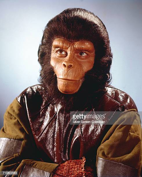 Englishborn actor Roddy McDowall as Galen in the television series 'Planet of the Apes' 1974