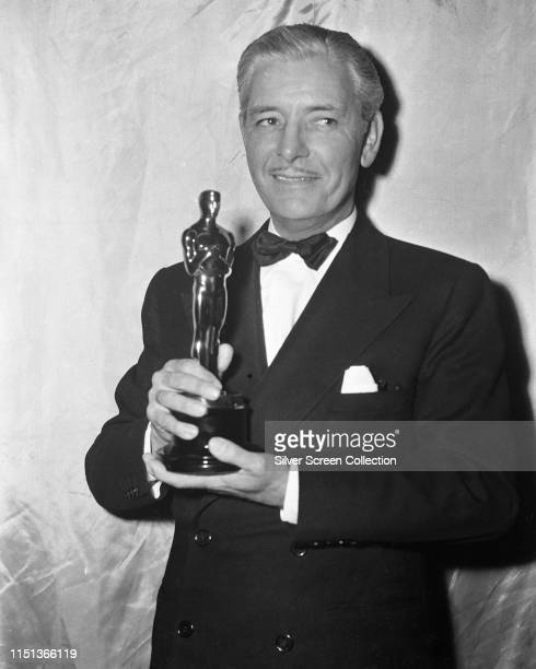 English-born actor Ronald Colman wins the Academy Award for Best Actor for his role in the film 'A Double Life', Los Angeles, 20th March 1948.