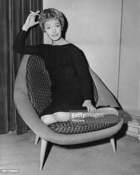 Englishborn actress singer and dancer Jeannie Carson during a reception at Television House in London 29th April 1959 She is in the capital to appear...