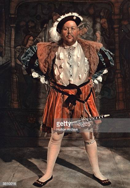 Englishborn character actor Charles Laughton in character for the title role in the film 'The Private Life Of Henry VIII' for which he won an Oscar