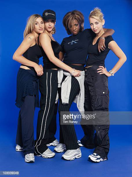 EnglishCanadian girl group All Saints circa 1995 From left to right Melanie Blatt Nicole Appleton Shaznay Lewis and Natalie Appleton