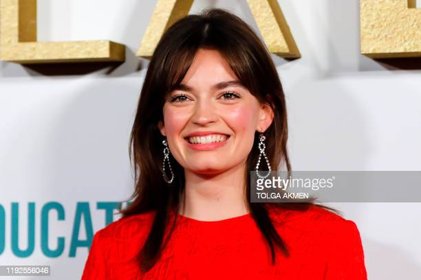 EnglishFrench actress Emma MacKey poses after arriving to attend the World Premiere of Netflix's Sex Education Season 2 in London on January 8 2020