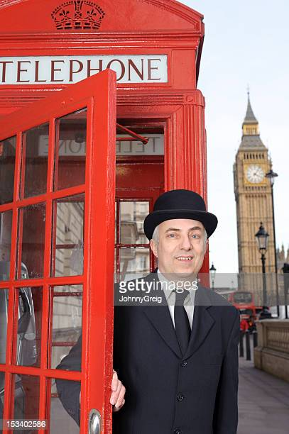 Englishman with Red Telephone Box and Big Ben