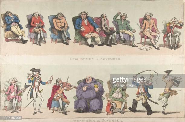 Englishmen in November Frenchmen in November November 25 1788 Artist Thomas Rowlandson