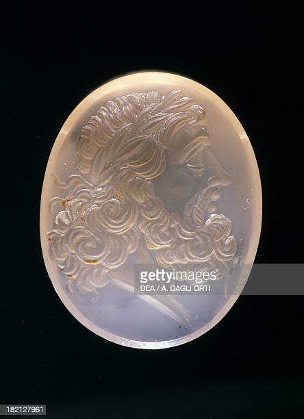 Engraved gemstone depicting the God Jupiter Roman Civilisation 1st2nd century Udine Musei Civici E Galleria Di Storia E Arte Antica Museo Archeologico