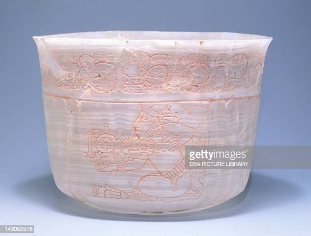 Engraved onyx cup from the State of Campeche Mayan Civilization 10th Century Washington Dumbarton Oaks Research Library And Collection