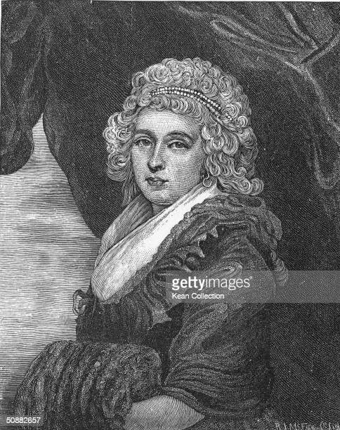 Engraved portrait of Abigail Amelia Adams Smith daughter of the second President of the United States John Adams and first lady Abigail Adams late...