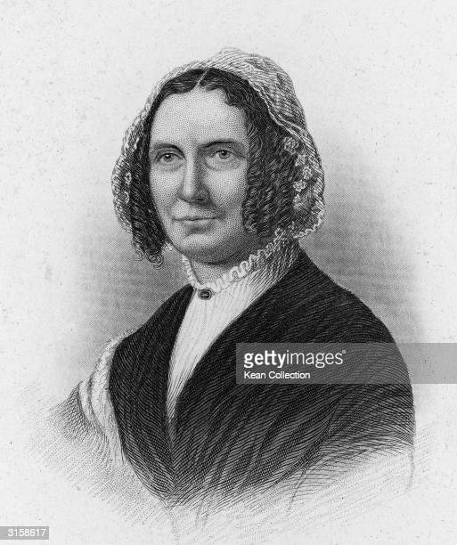 Engraved portrait of Abigail Powers Fillmore wife of Millard Fillmore the 13th president of the United States Mid19th Century