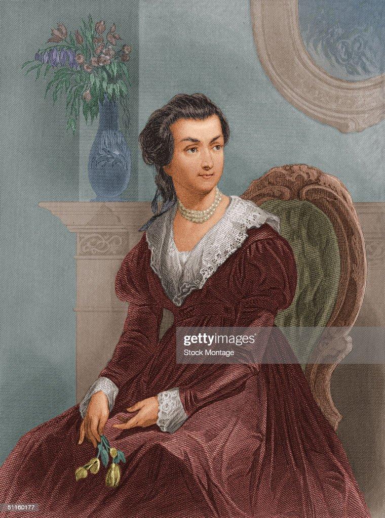 Engraved Portrait Of Abigail Adams : News Photo