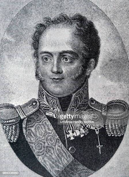 Engraved portrait of Alexander I of Russia Dated 19th Century
