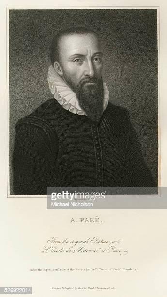 Engraved Portrait of Ambroise Pare