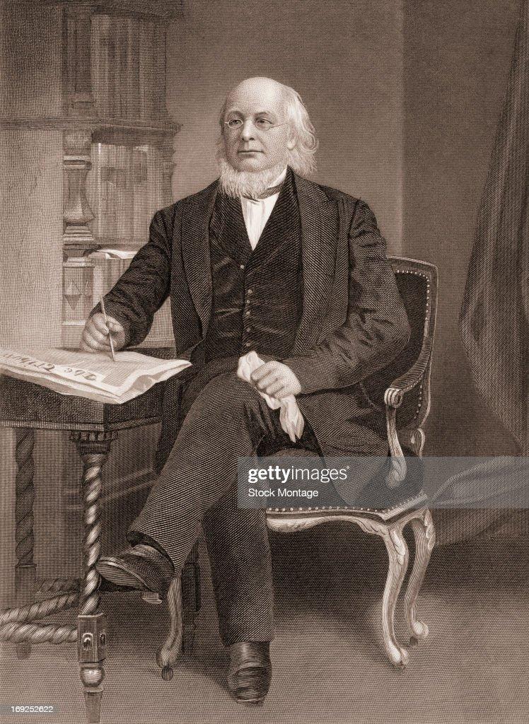 Portrait of Horace Greeley : News Photo