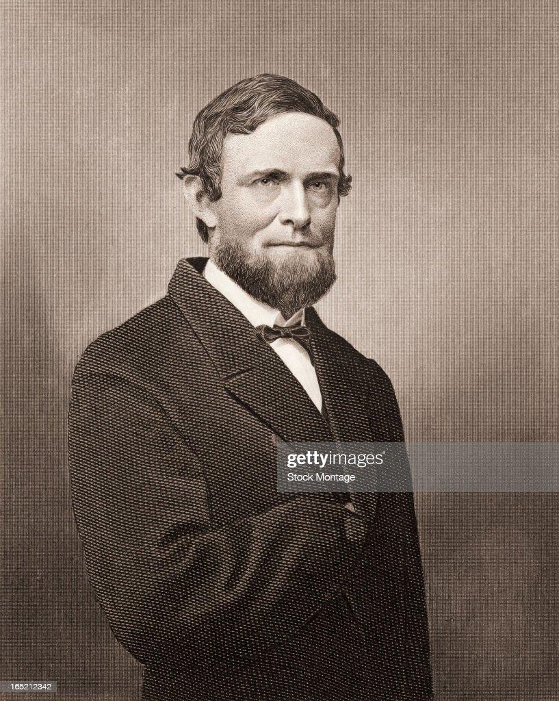 Portrait Of Schuyler Colfax : News Photo