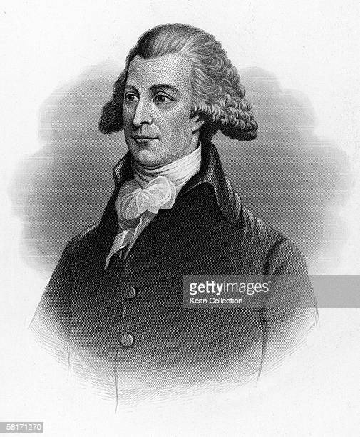 Engraved portrait of American political economist and Pennsylvania delegate Tench Coxe Boston Massachusetts late 1700s or 1800s Coxe served as...