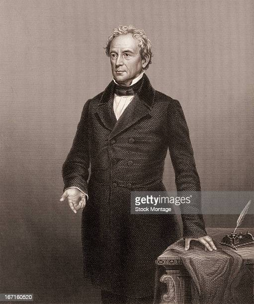 Engraved portrait of American politician and orator Edward Everett mid 19th century Everett served as a member of US House of Representatives...