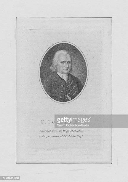 Engraved portrait of Cadwallader Colden a physician natural scientist and a lieutenant governor for the Province of New York 1830 From the New York...
