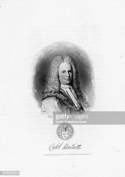 Engraved portrait of Caleb Heathcote who served as the 31st Mayor of New York City from 1711 to 1713 his estate in Westchester County New York is the...