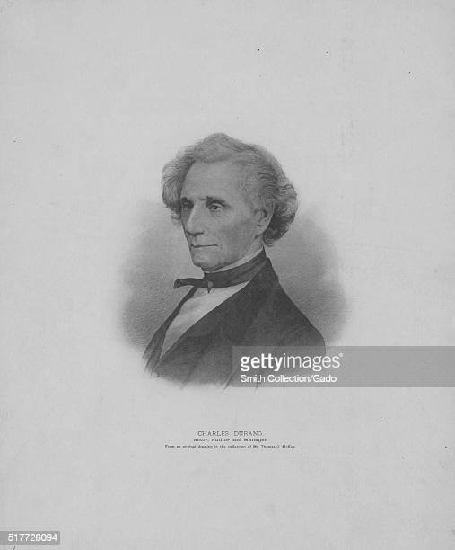 Engraved portrait of Charles Durang actor author stage manager ballet master also opened a dancing academy was the author of a 'History of the...